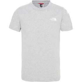 The North Face Simple Dome SS Tee Jungs tnflightgreyhthr/tnfwhite